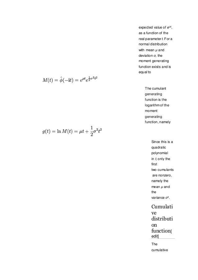 Cdf Of Normal Distribution Greek Letter