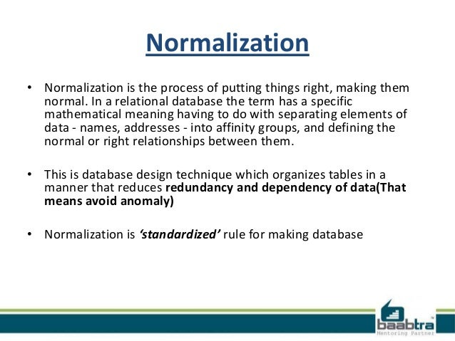 Normalisation and anomalies