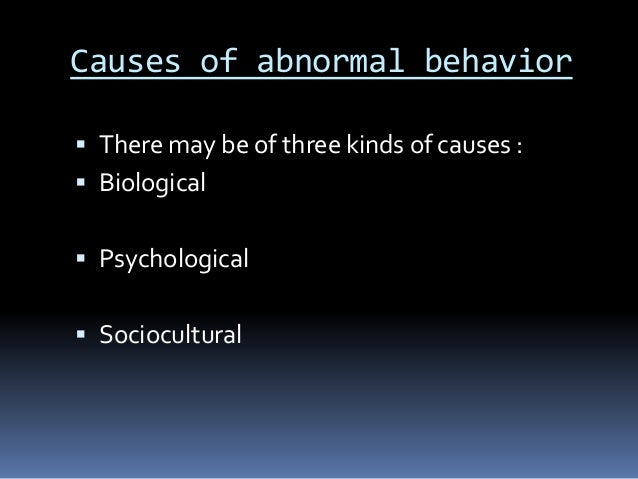 definition of abnormality and normality