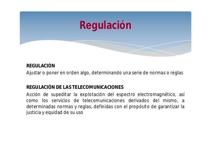 Normalización y regulación de las telecomunicaciones Slide 2