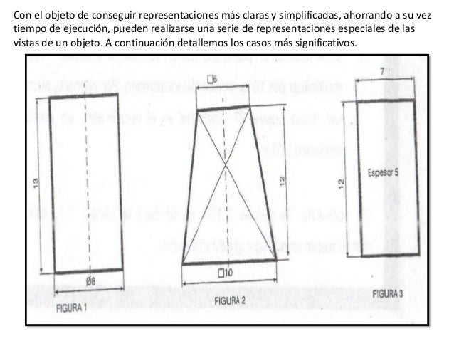 VISTAS AUXILIARES OBLICUASEn ocasiones se representan elementos en piezas, que resultan oblicuos respecto a losplanos de p...