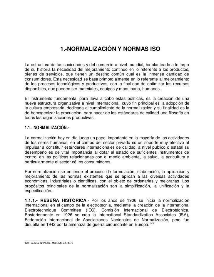 Normalizacion y Normas ISO