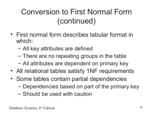 how to use normalization of database tables