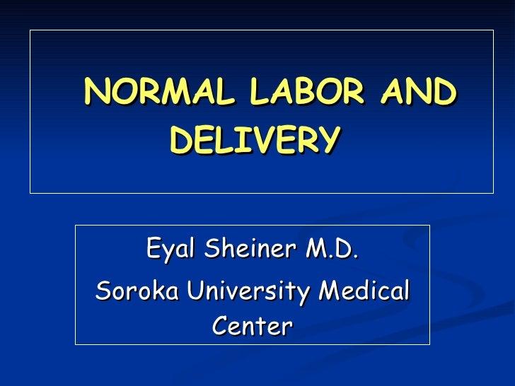NORMAL LABOR AND DELIVERY  Eyal Sheiner M.D. Soroka University Medical Center