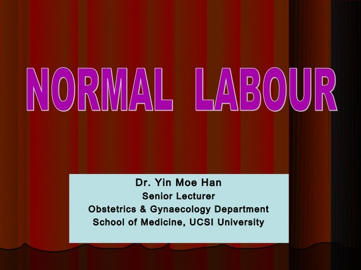 Dr. Yin Moe Han           Senior LecturerObstetrics & Gynaecology Department School of Medicine, UCSI University