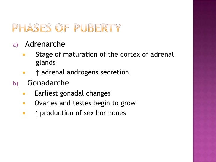 what is the first stage of puberty