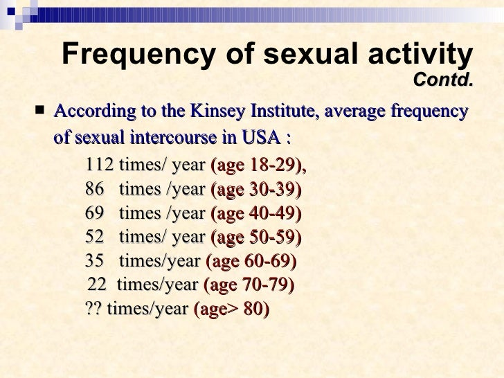 Normal sex frequency