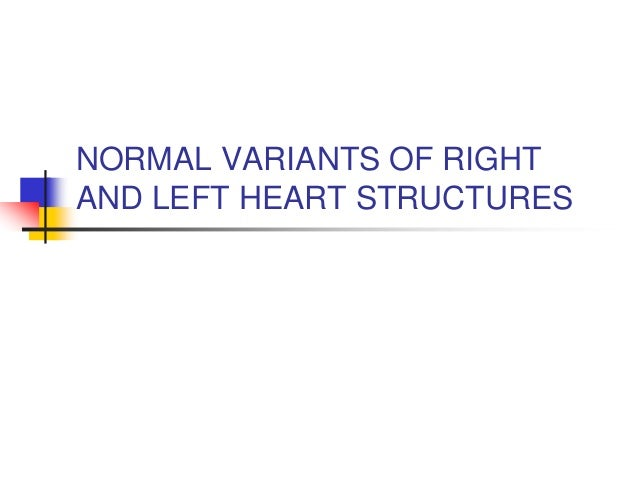 NORMAL VARIANTS OF RIGHT AND LEFT HEART STRUCTURES