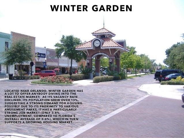 WINTER GARDEN LOCATED NEAR ORLANDO, WINTER GARDEN HAS A LOT TO OFFER ANYBODY DIVING INTO THE REAL ESTATE MARKET; AS ITS VA...