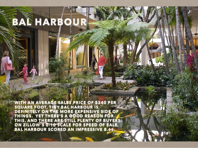 BAL HARBOUR WITH AN AVERAGE SALES PRICE OF $340 PER SQUARE FOOT, TINY BAL HARBOUR IS DEFINITELY ON THE MORE EXPENSIVE SIDE...