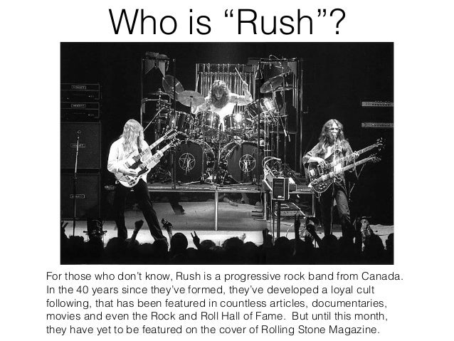 Norma Mirsky - Rush on the Cover of Rolling Stone Slide 2