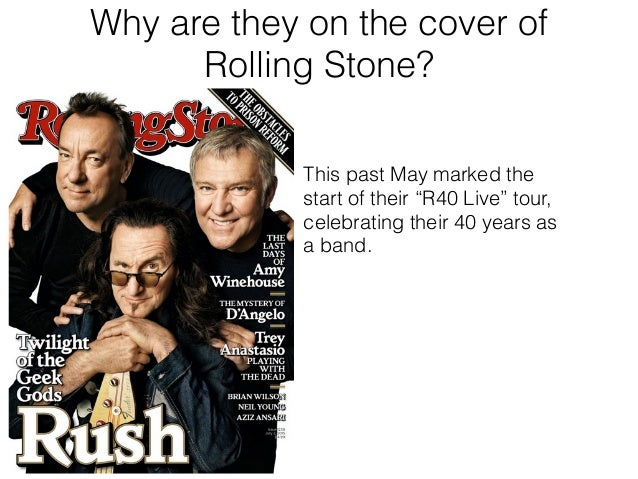 Norma Mirsky - Rush on the Cover of Rolling Stone Slide 3