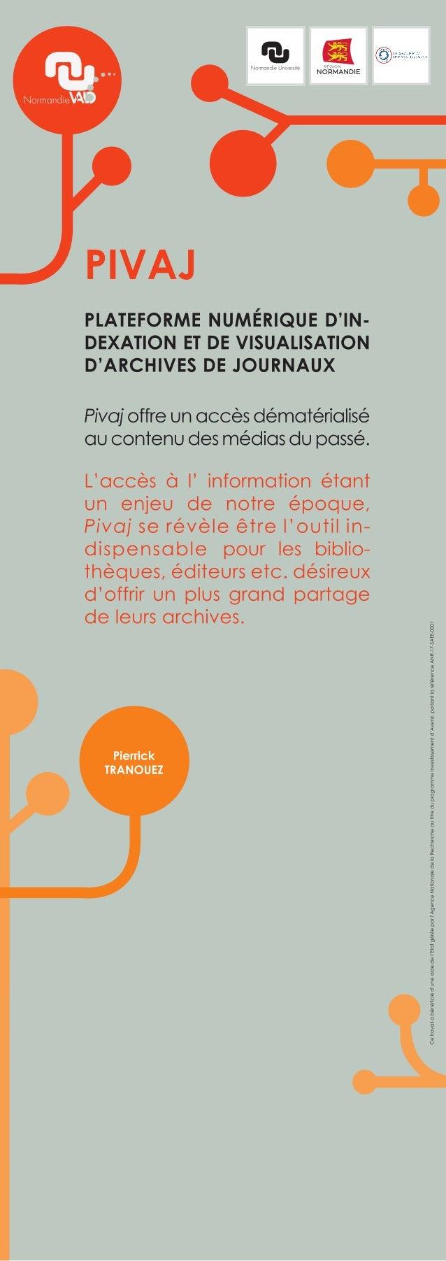 Plateforme numérique d'indexation et de visualisation d'archives de journaux