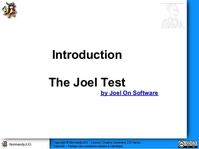 Introduction The Joel Test by Joel On Software