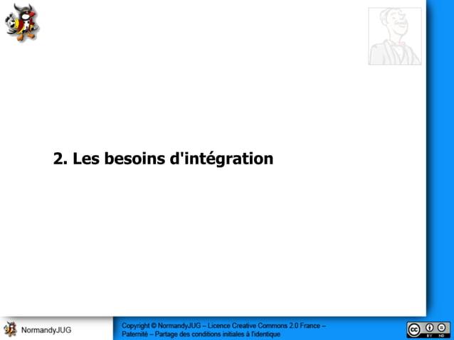 2. Les besoins d'intégration