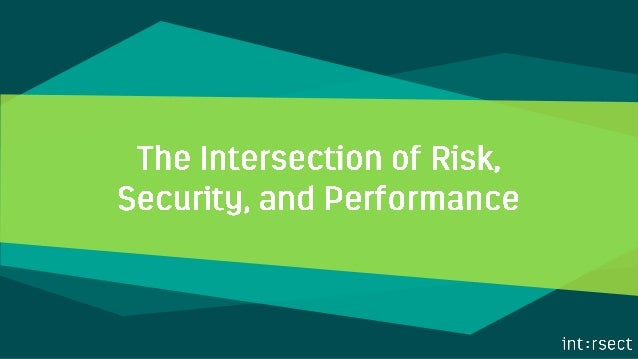 In many organizations, risk is seen as a compliance function, corporate security as something we have to do but reluctantl...