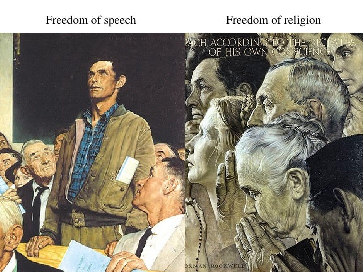 Image result for freedom of religion norman rockwell images