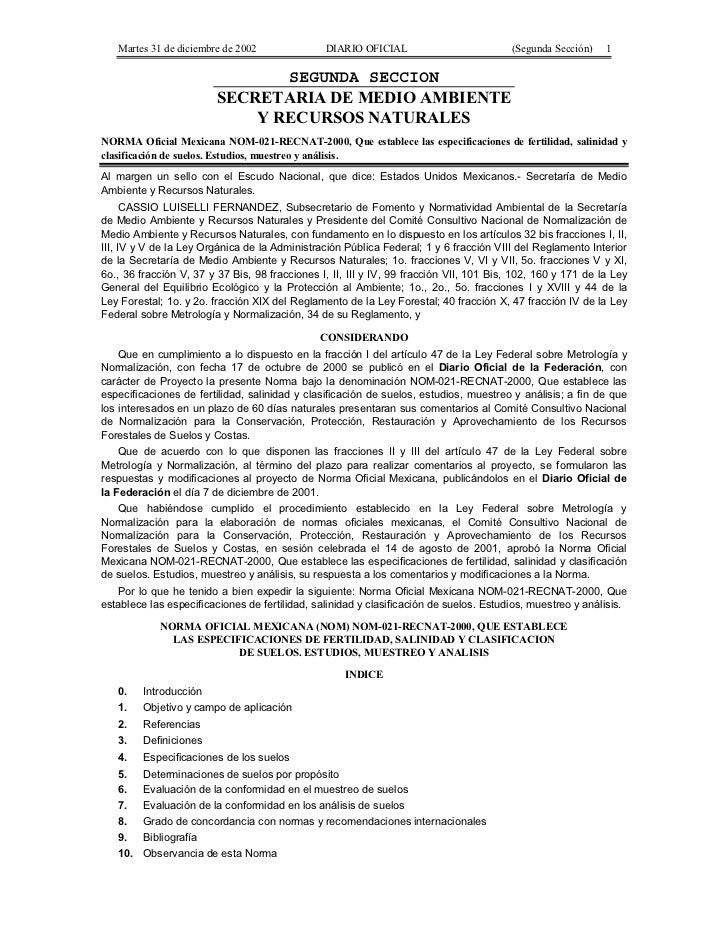 Martes 31 de diciembre de 2002               DIARIO OFICIAL                          (Segunda Sección)    1               ...