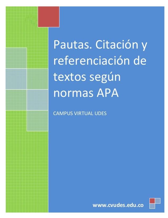 UNIVERSIDAD DE SANTANDER                                         Campus Virtual UDES                              PAUTAS. ...