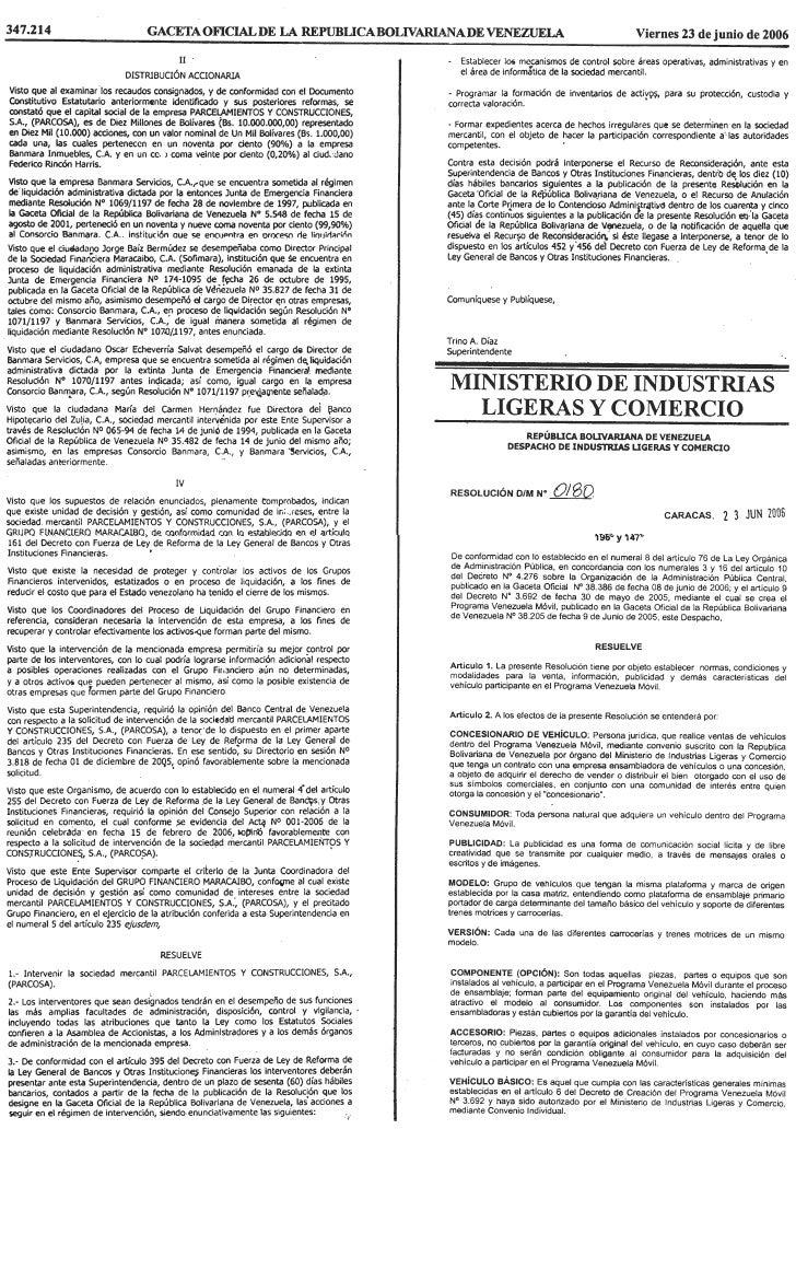 Normas, Condiciones Y Modalidades Para La Venta, InformacióN, Publicidad Y DemáS CaracteríSticas Programa Venezuela MóVil