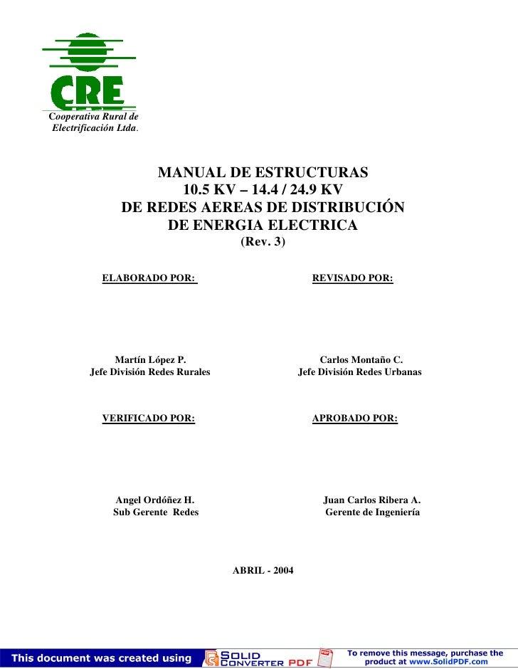 Cooperativa Rural de  Electrificación Ltda.                         MANUAL DE ESTRUCTURAS                        10.5 KV –...