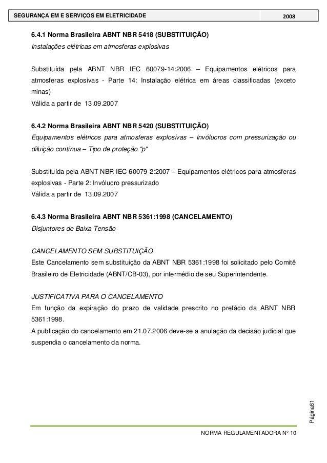 NORMA REGULAMENTADORA Nº 10 SEGURANÇA ... a0516bb7e1