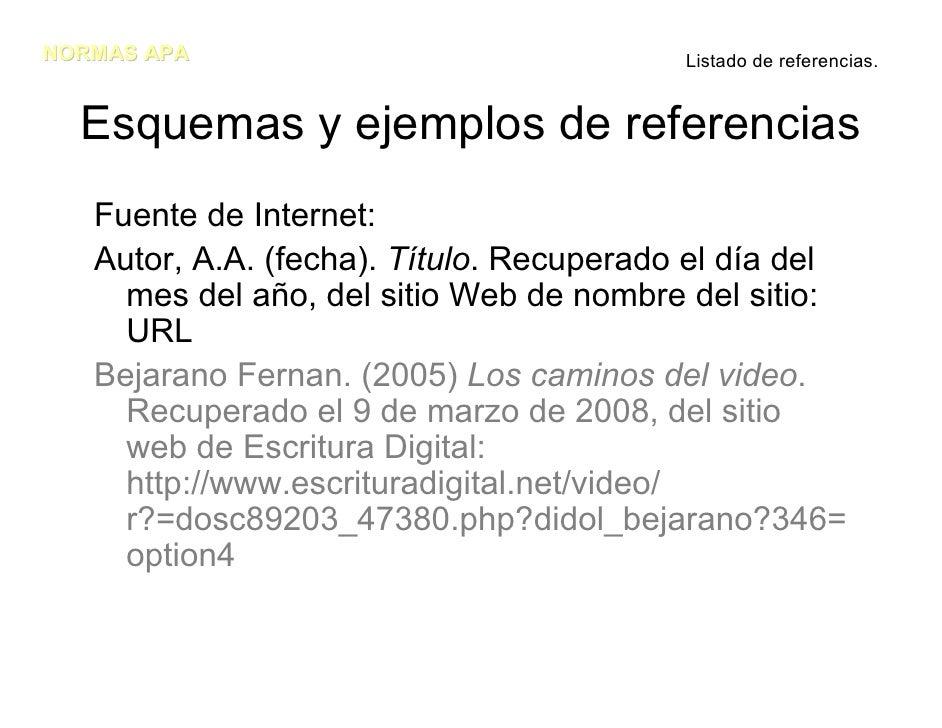 Como referenciar Paginas web y artículos electrónicos: