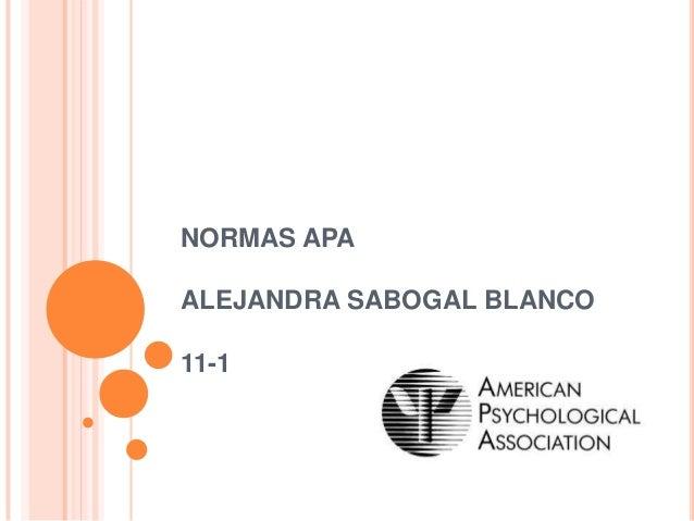 NORMAS APAALEJANDRA SABOGAL BLANCO11-1