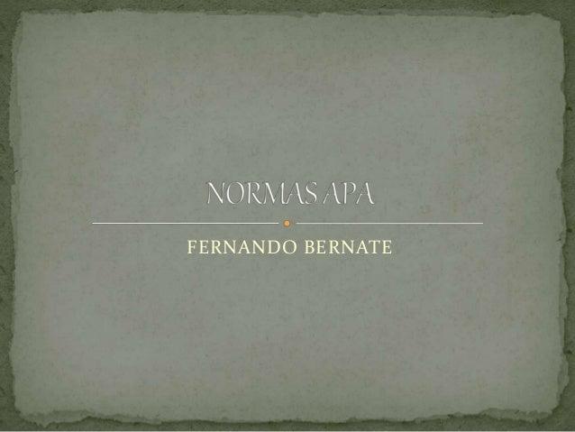 FERNANDO BERNATE