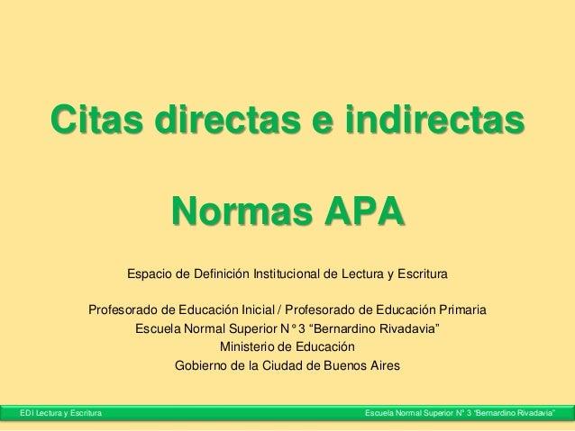 Citas Directas E Indirectas Normas Apa