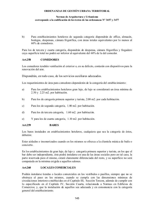 Normas arquitectura y urbanismo ECUADOR