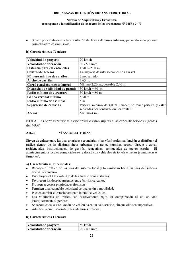 ORDENANZAS DE GESTIÓN URBANA TERRITORIAL                               Normas de Arquitectura y Urbanismo            corre...