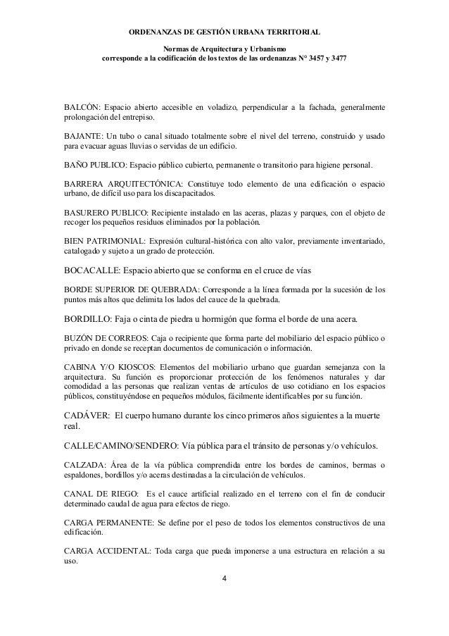 ORDENANZAS DE GESTIÓN URBANA TERRITORIAL                             Normas de Arquitectura y Urbanismo          correspon...