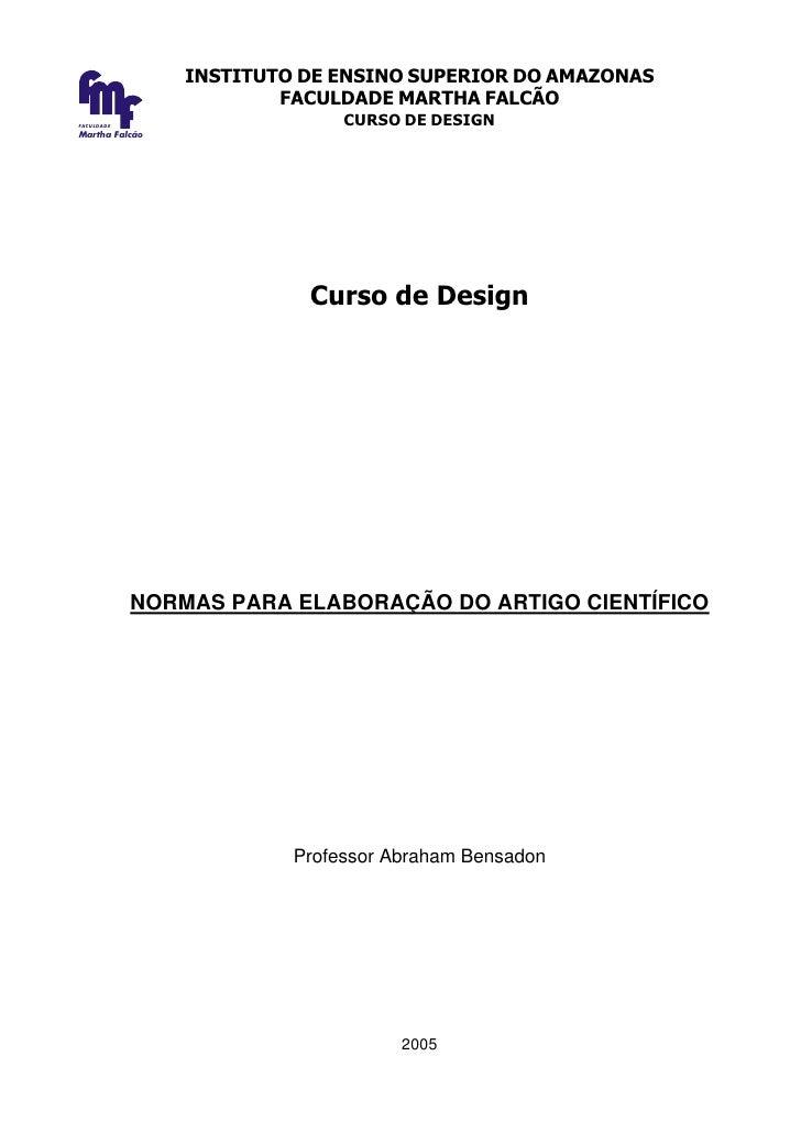 INSTITUTO DE ENSINO SUPERIOR DO AMAZONAS                         FACULDADE MARTHA FALCÃO FACULDADE                        ...