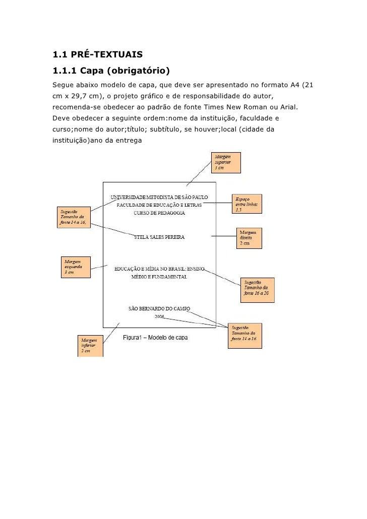 1.1 PRÉ-TEXTUAIS1.1.1 Capa (obrigatório)Segue abaixo modelo de capa, que deve ser apresentado no formato A4 (21cm x 29,7 c...