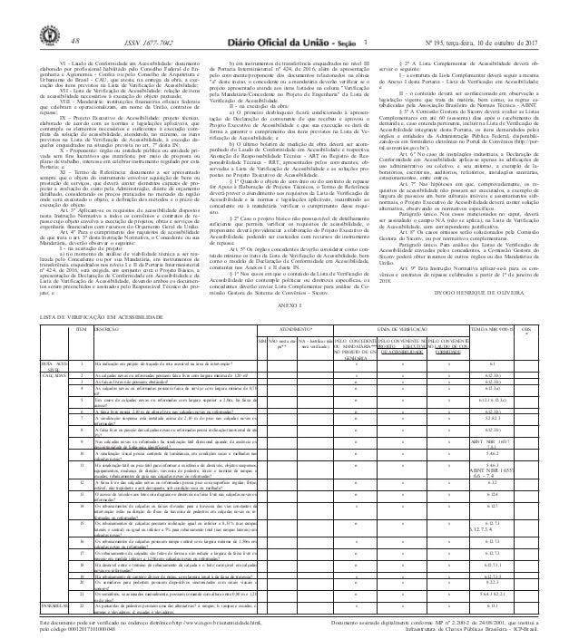 48 ISSN 1677-7042 1 Nº 195, terça-feira, 10 de outubro de 2017 Este documento pode ser verificado no endereço eletrônico h...