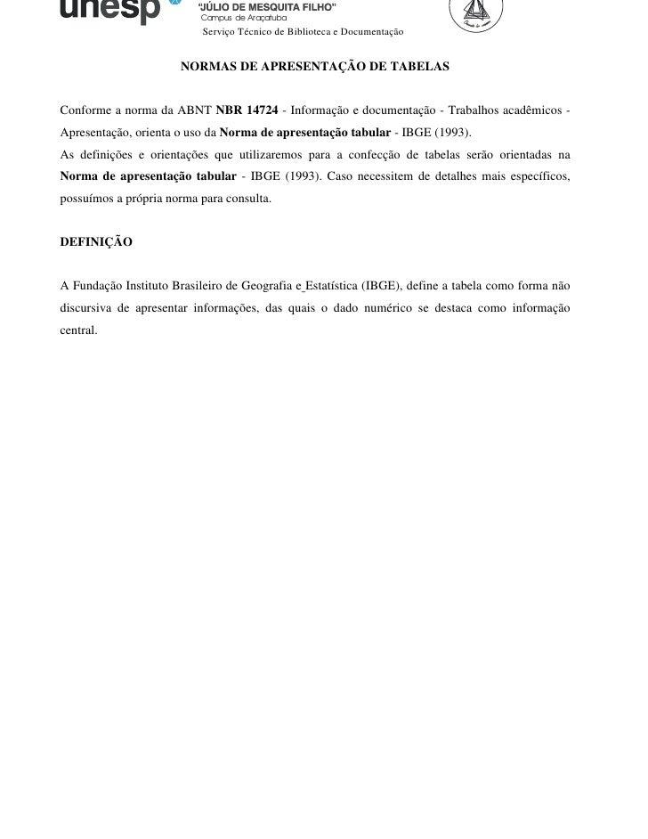 Campus de Araçatuba                           Serviço Técnico de Biblioteca e Documentação                      NORMAS DE ...