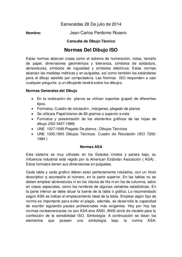 Normas de dibujo ISO