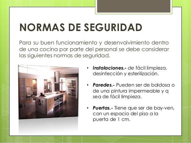 Normas de higiene for Manual de limpieza y desinfeccion para una cocina