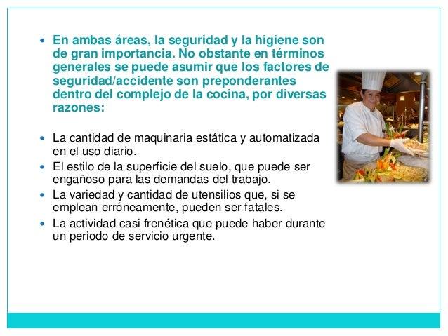 Normas de higiene y seguridad en el rea for Organizacion y limpieza del equipo de trabajo en la cocina