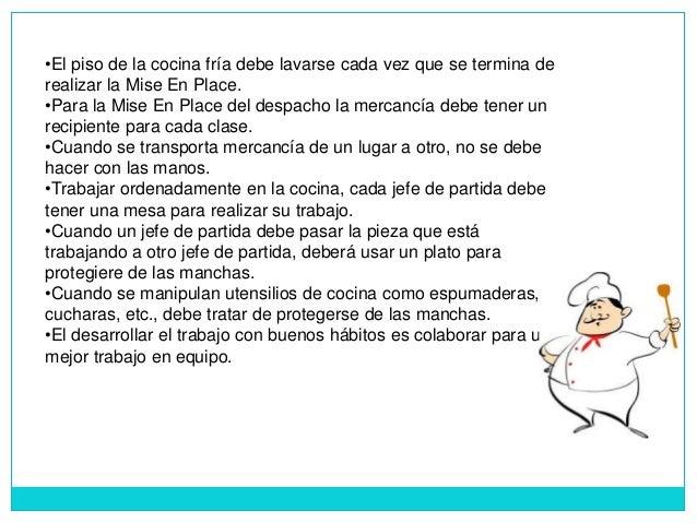 Normas de higiene y seguridad en el rea - Trabajo de jefe de cocina ...