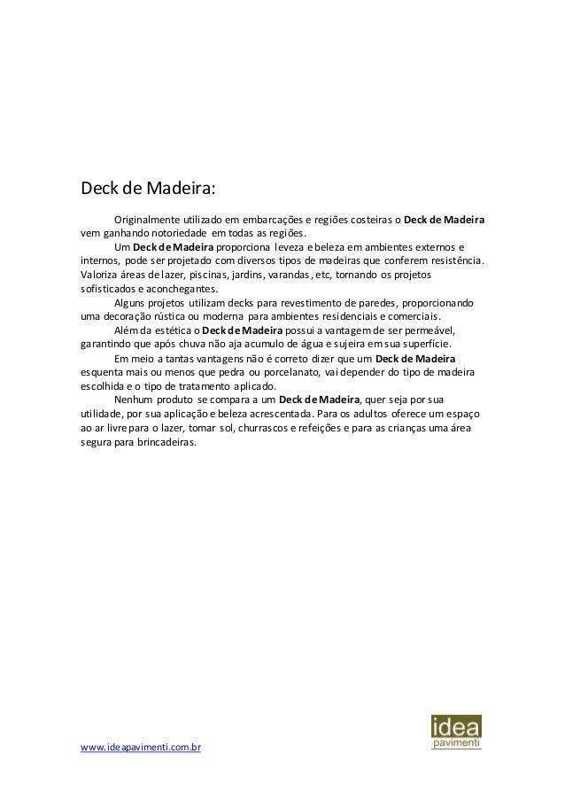 Normas de instalação de Deck de Madeira diretamente no solo Slide 2