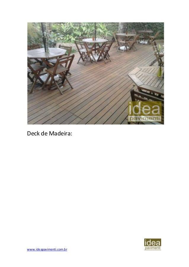 Normas de instalação de Deck de Madeira diretamente no solo Slide 3