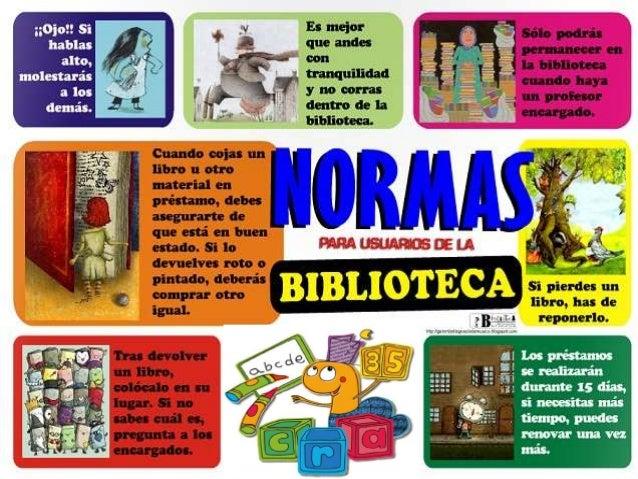 Normas De La Biblioteca Escolar