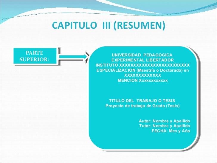 NORMAS UPEL CAPITULO III