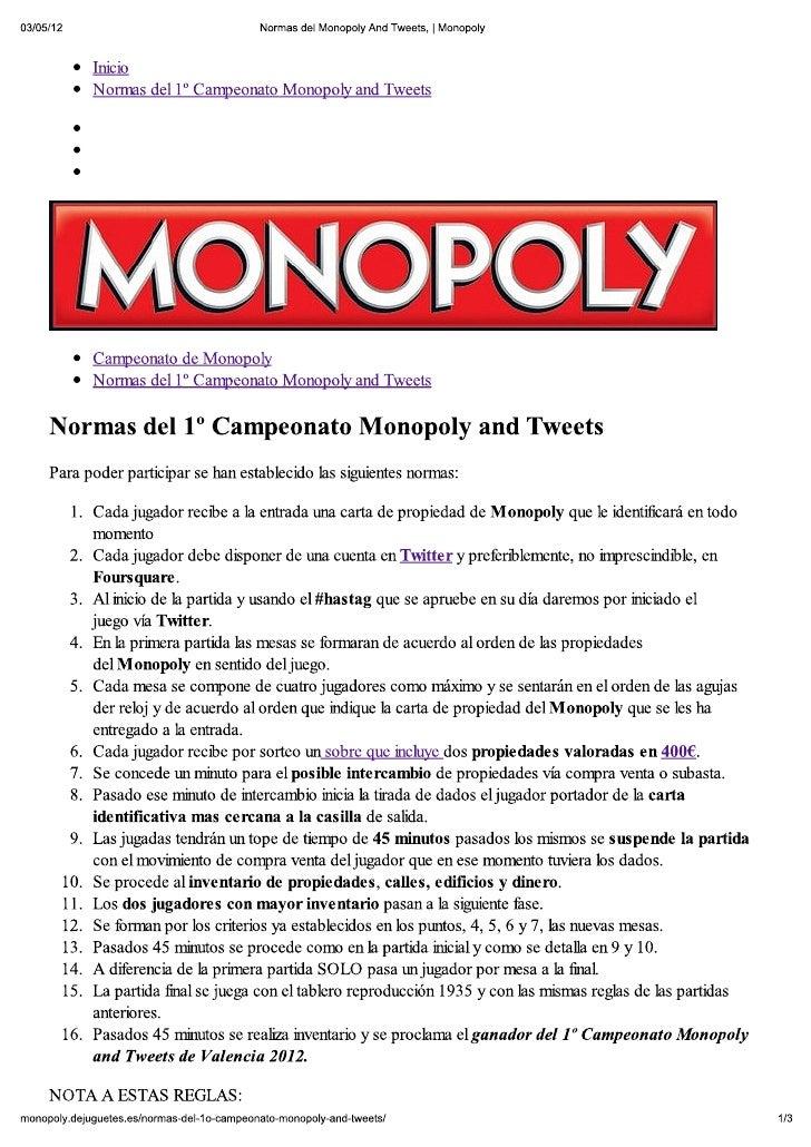 Reglas Del Monopolio Www Imagenesmy Com