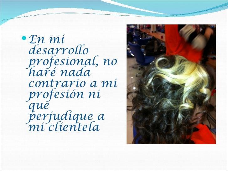 Normas del profesional de peluqueria Slide 2