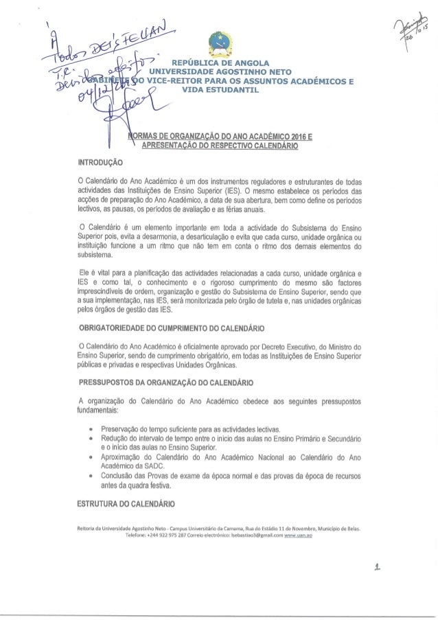 x ' ? é  p;  I_               @RIT REPÚBLICA DE ANGOLA  NIVERSIDADE AGOSTINHO NETO  90 VICE-REITOR PARA OS ASSUNTOS ACADÊM...