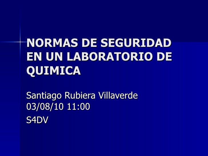 Normas De Seguridad En Un Laboratorio De Quimica