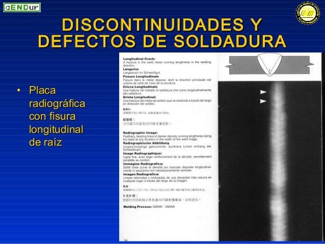 Normas discontinuidades y defectos en soldaduras payend 2 - Soldadura en frio ...